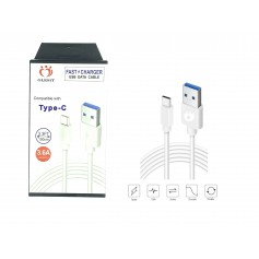 Olesit USB-C / Type C 1 Meter Fast Charge 3.6A – Snelle Oplaadkabel - Veilig laden - Data Sync & Transfer - Wit