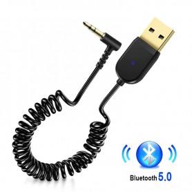 DrPhone BC20 Pro - Plug & Play - Bluetooth 5.0 Ontvanger- Stereo Draadloze Adapter 3.5Mm Jack Aux - Bluetooth Audio Receiver