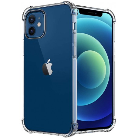 DrPhone iPhone 12 Mini 5.4 Inch TPU Hoesje - Siliconen Bumper Case met Verstevigde randen – transparant