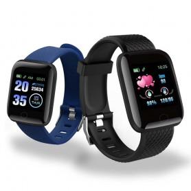 DrPhone - KidzOne Advanced - Smartwatch voor Kinderen - Stappenteller - Hartslagmeter Nederlandstalige App - Zwart