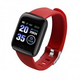 DrPhone - KidzOne Advanced - Smartwatch voor Kinderen - Stappenteller - Hartslagmeter Nederlandstalige App - Rood