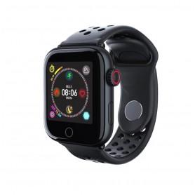 DrPhone GTE2 Smart - Smartwatch Tracker - Horloge Mannen & Vrouwen - Notificaties + Hartslagmeter - Bloeddrukmeter - Zwart