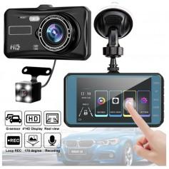 DrPhone DC6 Auto Dashcam Voor en Achter - 1080P - Touchscreen - Loop- G-sensor - Groothoek