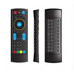DrPhone MX5 Bluetooth-Air Mouse Afstandsbediening met toetsenbord en IR Learning - Zwart