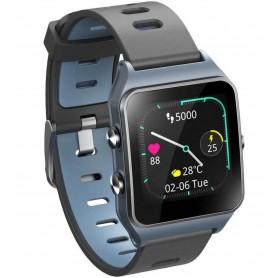 DrPhone - PureSport Pro - GPS Sport Horloge - Fitness Tracker Waterproof Hartslagmeting met illumi Run (Strava) - Zwart