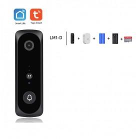 DrPhone LM1-D Smart Video Deurbelcamera – 1080P – HD – Nachtzicht Camera – Wifi video deurbel – Draadloze IP deurbel -