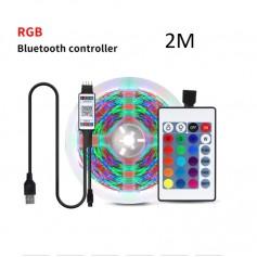 DrPhone – AG02 - Led strip - RGB - App IOS / Android - 2 Meter - App Bediening - Sfeer Verlichting -