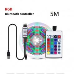 DrPhone – AG02 - Led strip - RGB - App IOS / Android - 5 Meter - App Bediening - Sfeer Verlichting -