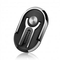 DrPhone UL1 - Ventilatie Autohouder + Ring Smartphone Houder + Video Modus Stand - Zwart