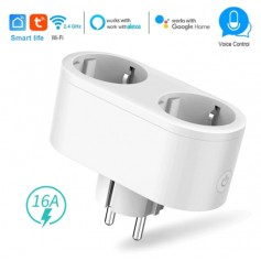 DrPhone SP1 Pro – Smart Plug – Slimme stekker – 2 in 1 Schakelaar & Stekker – Stem/ Voice Control – Alexa – Google Home