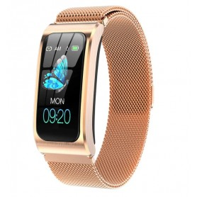 DrPhone IZ02 – Smartwatch - Hartslagmeter – Stappenteller – Fitness Tracker - Roze Goud