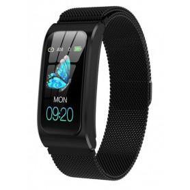 DrPhone LadiesX – Smartwatch voor Vrouwen- Hartslagmeter – Stappenteller – Fitness Tracker - Zwart