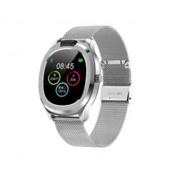 DrPhone GTX6 - 1.3 inch Aluminium CNC Smartwatch met temperatuur meter - ECG+PPG meting - Sport – Zilver