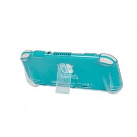 DrPhone NSCS01 – Nintendo Switch Lite Stand Case – Bescherm Hoes- Neerzet Stand- Transparant