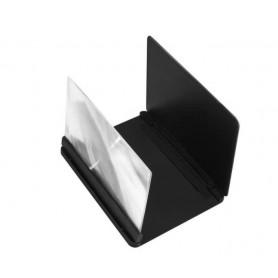 Drphone SPVF01 – Scherm Vergroter - Vergrootglas voor Mobiele Telefoon – 3D – Stand – 9 Inch - Zwart
