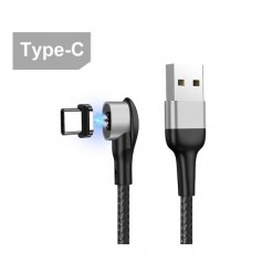 DrPhone iCON2 - Super Magnetische USB-C Kabel - 3A - Oplader - Snel Opladen + Dataoverdracht - 90 Graden met Led licht