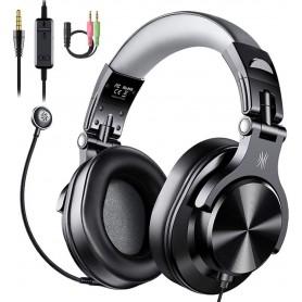 """DrPhone O2 Game Headset 40mm met microfoon - Hoofdtelefoon & in-line bediening Mute & Dubbele 3,5 mm """"Y"""" -verlengkabel"""