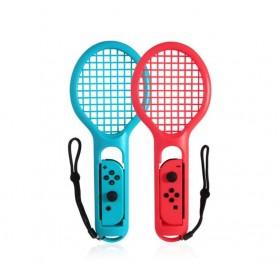 DrPhone NSCR01 – Nintendo Switch Joystick Racket Houder – Tennis – Sport - Handvat – 2 Set – Rood – Blauw