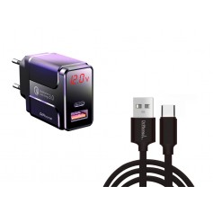 DrPhone HALO5-x-Switch - 18W Lader met 2 Meter Lange Gevlochten Kabel - Oplaadkabel voor Nintendo Switch / Switch Lite