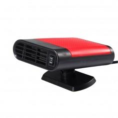 DrPhone HeatAir - 3 in 1 Verwarming / Koeler / Luchtverfrisser Voor Auto - Sneller Ramen Ontdooier - Geur Verwijderen - Rood