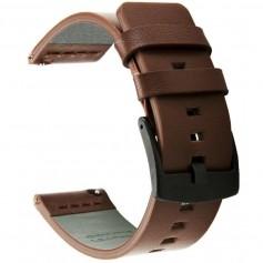 DrPhone LB1 - Lederen Armband - 22mm - Universeel Echt Leren Horloge bandje – voor o.a voor Galaxy Watch 3 45mm - Bruin