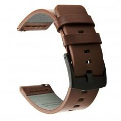 DrPhone LB1 - Lederen Armband - 20mm - Bruin - Universeel Echt Leren Horloge bandje – 41mm Galaxy Watch / Active