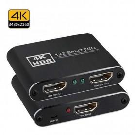 DrPhone UHDS2 - Ultra HD 1x2 HDMI splitter – Gaming – PC – TV – 4K – 1080P - Zwart