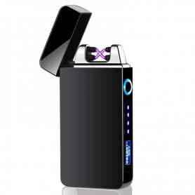 DrPhone JS5 - Plasma – Aansteker/ Lighter – Oplaadbare Aansteker - USB - Elektrisch – Glans Zwart