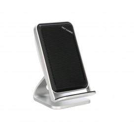 DrPhone SC901- Fast Draadloze Standhouder Dock - Voor iPhone 8 Plus X /XR /XS MAX -Samsung - 10 W Draadloze Oplader – Grijs.