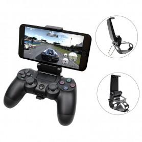 DrPhone KHC 2 in 1 Smartphone Klemhouder & Standhouder met PS4 Controller Dualshock (verbinding met bluetooth mogelijk)