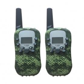 DrPhone WT388- 22 kanaals Walkie Talkies - Voor Kinderen – 6 Kilometer - Camouflage Groen