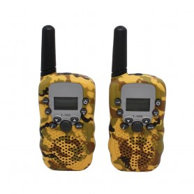 DrPhone WT388- 22 kanaals Walkie Talkies - Voor Kinderen – 6 Kilometer - Camouflage Geel