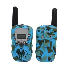 DrPhone WT388- 22 kanaals Walkie Talkies - Voor Kinderen – 6 Kilometer - Camouflage Blauw