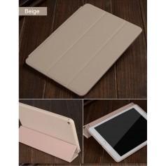 DrPhone iPad Pro 4 10.9 (2018) hoesje - Smart Tri-Fold Case - PU leder Cover - Smart cover + Achterkant – Beige
