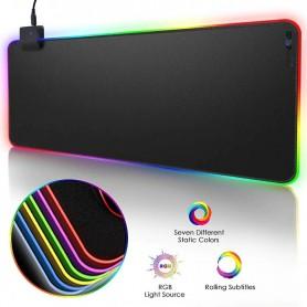 DrPhone QWR Muismat – 300x700x4mm - Muismat – RGB LED Verlichting – Gaming – Anti-Slip - Waterproof - Mousepad – Extra groot
