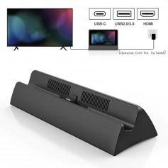 DrPhone NSD1 – Nintendo Switch Tv Docking Station – HDMI – 2 USB 2.0 – 1 USB 3.0 – 2 USB C -Reizen- Zwart
