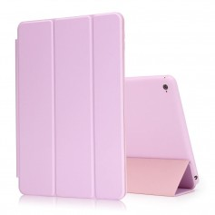 DrPhone iPad Pro 4 10.9 (2018) hoesje - Smart Tri-Fold Case - PU leder Cover - Smart cover + Achterkant – Roze
