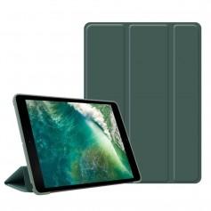 DrPhone iPad Pro 4 10.9 (2018) hoesje - Smart Tri-Fold Case - PU leder Cover - Smart cover + Achterkant – Donker Groen