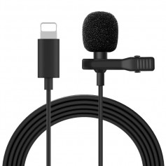 DrPhone PX4 - Draagbare Mini Lightning Lavalier Microfoon voor o.a. - IPhone XS XR /X/12 /11/8/8 Plus/7 Plus
