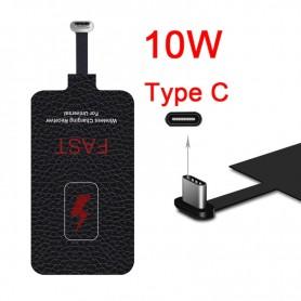 DrPhone REC1 - 10W 2A Draadloze Ontvanger + Lader Voor Type-C Mobiele Telefoon - USB-C Smartphone Ontvanger