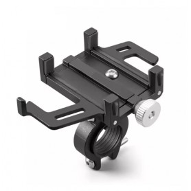 DrPhone FTH Fietsstuur Telefoonhouder Aluminium Frame Verstelbaar - 55-95mm (3.5 t/m 7.2 inch) - Zwart