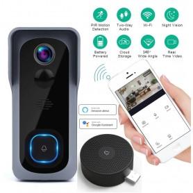 Slimme Draadloze Wifi Deurbel met Camera - PIR Bewegingssensor - IR Nachtzicht -Waterproof – Videodeurbel