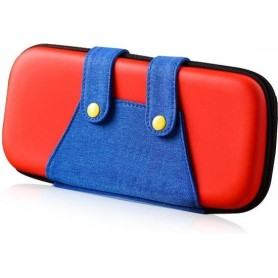 DrPhone RB-M Nintendo Switch LITE Hoes – N-Switch LITE Case – Beschermhoes – Opberghoes Rood / Blauw