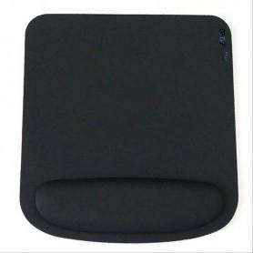 DrPhone Ergonomisch Muismat - Mousepad - Polssteun - Perfect voor Optische & Trackball Muis - Zwart
