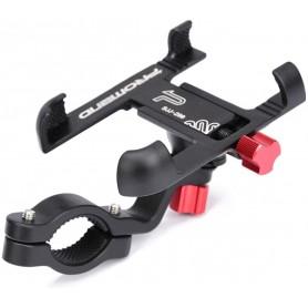 DrPhone RPH1 (electrische) fiets- en motorfiets Telefoonhouder -Aluminium - Verstelbare 360 ° Draaibare Houder – Zwart/Rood