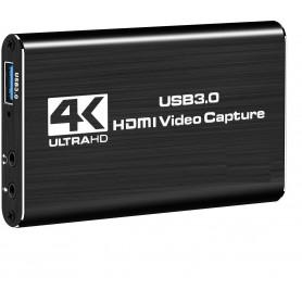 DrPhone HVC HDMI naar USB 3.0 Video Capture Kaart Adapter –1080P 60Hz - Zwart