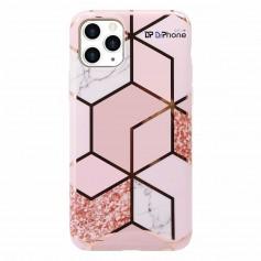 DrPhone IP20 - Iphone - Iphone 11 - Telefoonhoes - Marmeren roze