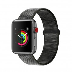 DrPhone AWB - Apple Watch Bandje - 42mm - Nylon - 44mm - Grijs