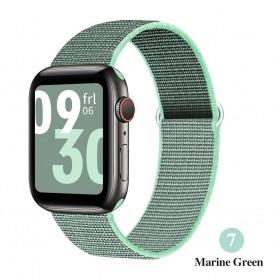 DrPhone AWB - Apple Watch Bandje - Nylon - 42mm - 44mm - Mint Green