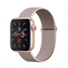 DrPhone AWB - Apple Watch Bandje - Nylon - 38mm - 40mm - Rose Roze